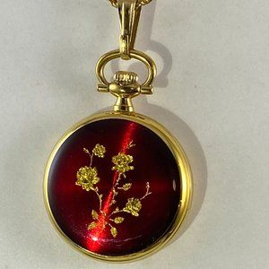 Vintage Bucherer Swiss Gold Pendant Watch Crystals